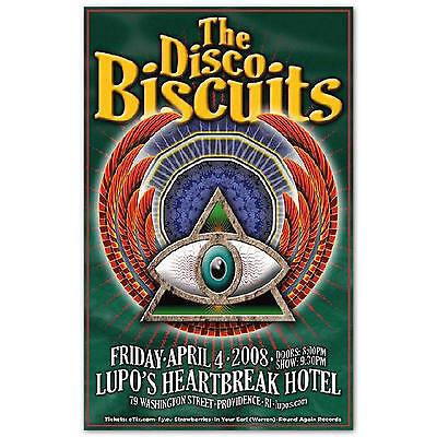 Disco Biscuits Concert Poster Original Handbill 2008 Lupos Providence RI - NEW