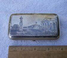 Good RUSSIAN Scenic NIELLO Silver CIGARETTE CASE-Dated 1875-Maker Ae-NR!
