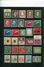 BRD, federal, colección PROMOClÓN de 1954 + 1955 sin Heuss-conjunto completamente post frescos mnh