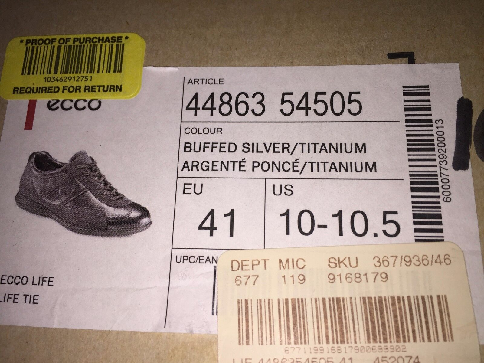 Ecco Woman's Ecco Life Sneaker schuhe Buffed Silver/Titanium Silver/Titanium Buffed  Life Tie 5533bd