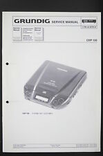 Grundig CDP 100 Discman ORIGINALE Service-Manual/Istruzioni/Schema elettrico Diagram/o84