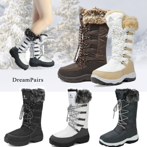 DREAM-PAIRS-Women-Warm-Faux-Fur-Lined-Waterproof-Mid-Calf-Zipper-Snow-Boots