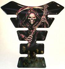 Grim Reaper Mini Tank Pad 3D Gel Domed ideal for 125cc bikes 145mm x 140mm