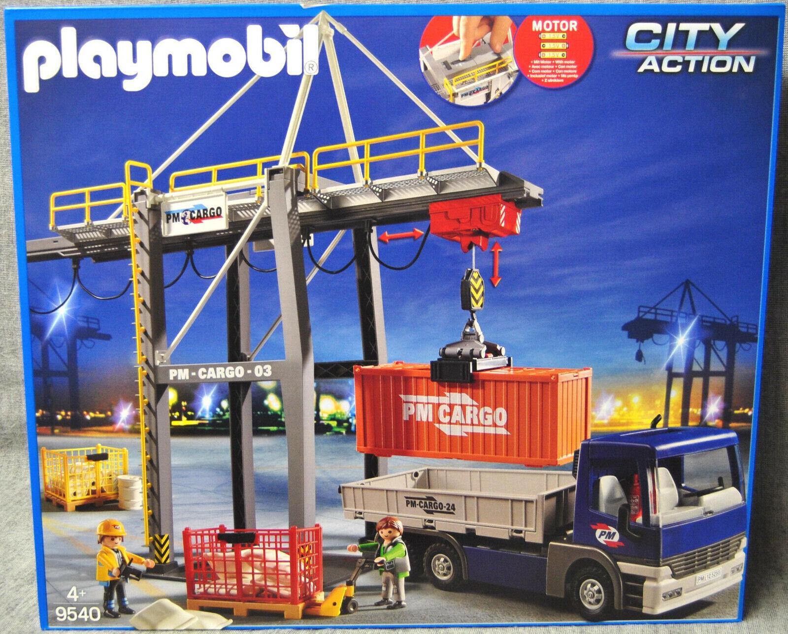 Playmobil 9540  électrique Verladekran Avec Camion-PM voitureGO-city action NEUF  nouveau style