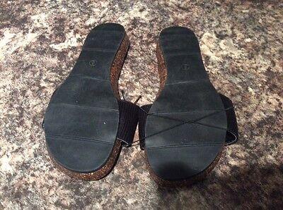 Nuevas señoras tamaño 3 Zapatos Planos Verano De Color Negro