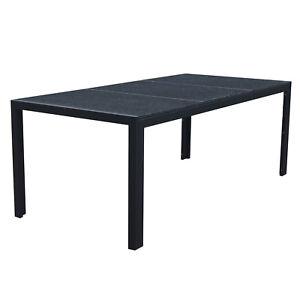 Granit Tischplatte Gartentisch Gartenmöbel Outdoor Esstisch 200 X 95
