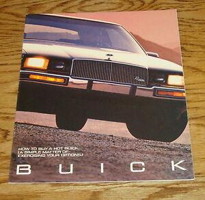 1987 BUICK SALES BROCHURE GN T