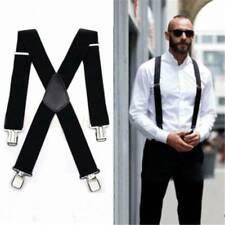 Men/'s Braces 35MM Unisex Adjustable Men Heavy Duty Trouser Belt Leather Enforced
