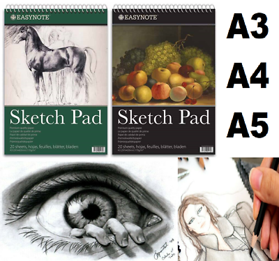 A4 60 Sheet Sketch Pad Drawing Book Sketching Artist Art Craft White Paper