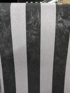 P S Carat Vlies Tapete 13346 40 Ps Gestreift Schwarz Silber Grau