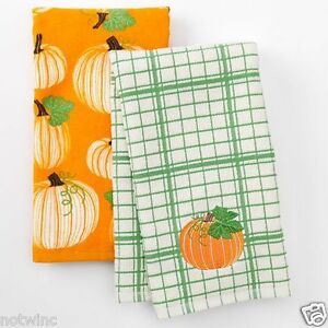Image Is Loading 2 Kohl 039 S Harvest Kitchen Dish Towels