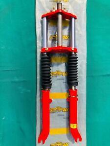 Forcella meccanica tamburo 28mm Malaguti Fifty HF NEW 82-85 rosso cod 012.014.00