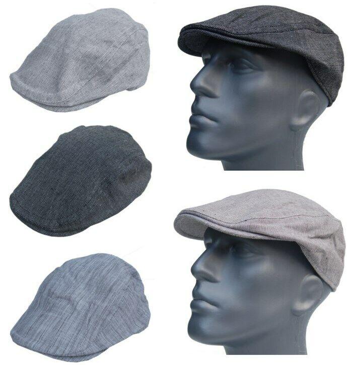 Cool 4 Summer Linen Flat-Cap Slider Hat Mens Vintage Gatsby Cap Hat E08