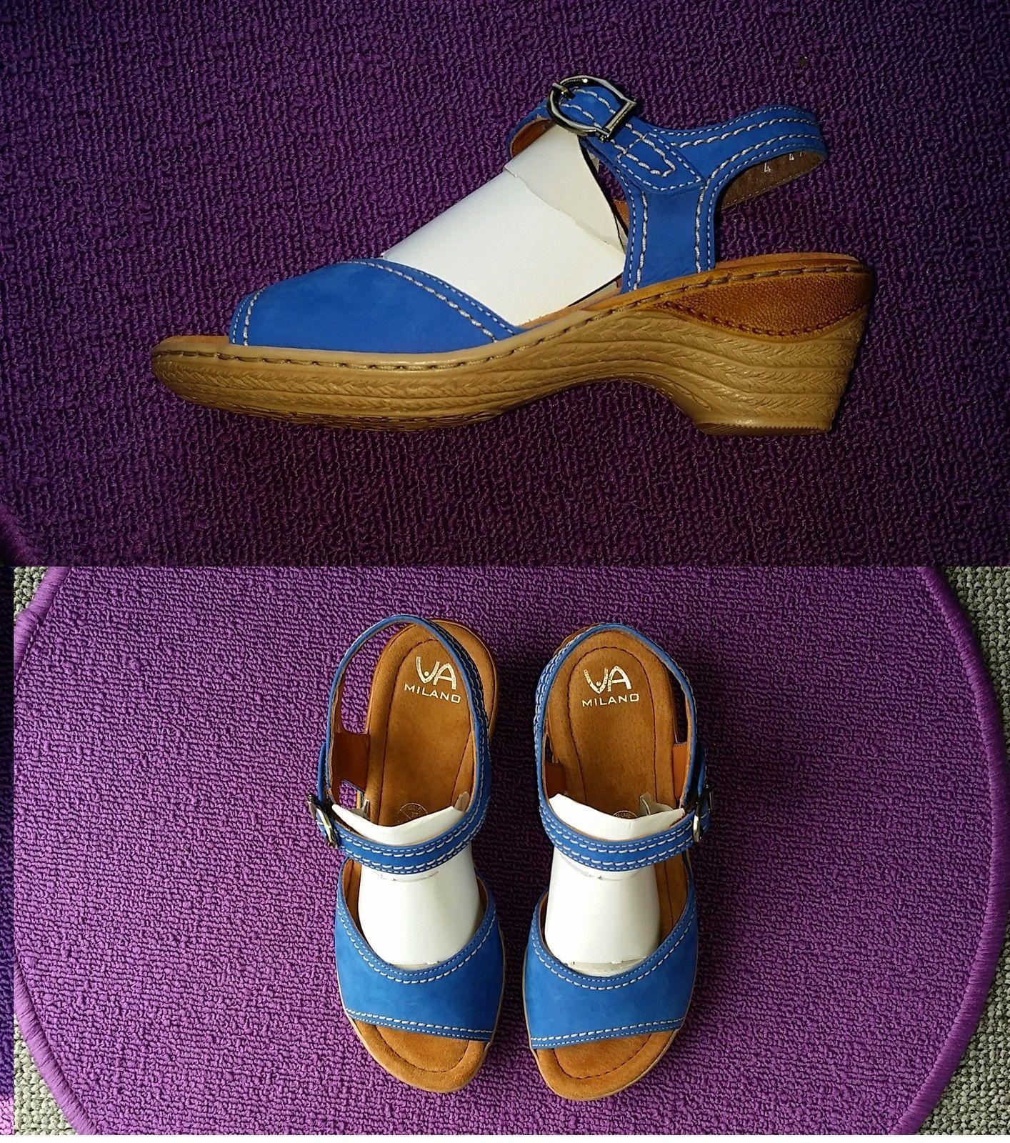 Via Milano 3,5 Sandali Cinturino Sandali circa 3,5 Milano CM, paragrafo colore blu chiaro UVP: 42175d