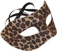 Spotted Cheetah Half Mask, Brown, Mardi Gras, Halloween