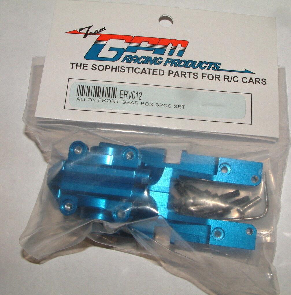 Traxxas Mini E-revo Gpm Frontal Azul De Aluminio 3 Piezas Caja De Engranajes erv012