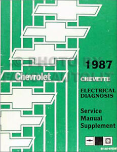 1987 Chevette Wiring Diagram Electrical Diagnosis Service Manual Original  Chevy | eBayeBay