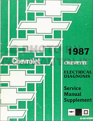 1987 Chevette Wiring Diagram Electrical Diagnosis Service Manual Original Chevy Ebay