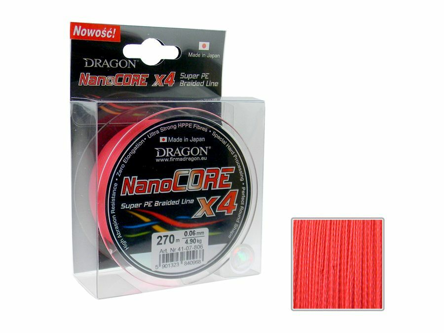 Dragon NanoCore X4   Red   270m   made in Japan