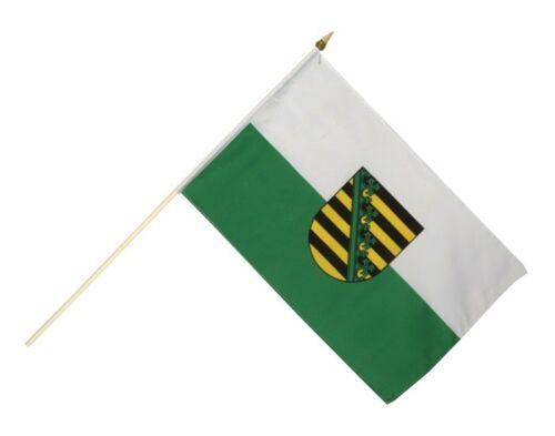Sachsen Stockflagge Flaggen Fahnen Stockfahne 30x45cm