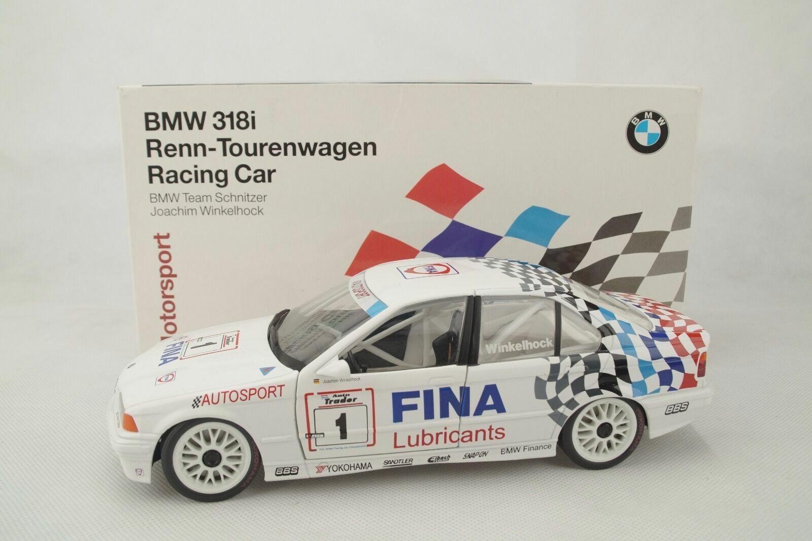 1 18 Dealer modello  80438421111  BMW 318i Winkelhock Fina 1 raritaet