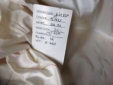 "NEW 100% silk Ivory Dupion Fabric 45"" 114cm Silk Cloth Craft Half Metre 0.5 1/2"