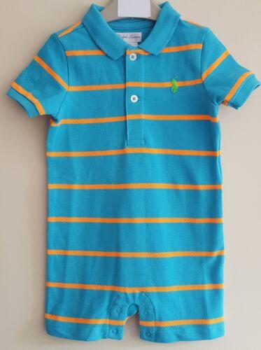 BNWT Polo Ralph Lauren Baby Boys Shortall//Ange//tout en un bleu et vert