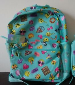 b275e4b5de9b The Children s Place Kids Girls Emoji Backpack Aqua Blue NEW