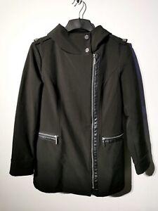Michael-Kors-Femmes-Elegant-manteau-noir-veste-taille-M-10-12