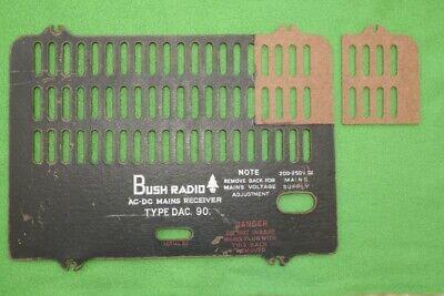 VINTAGE BUSH DAC90 RADIO CNC MACHINED BACK PANEL REPAIR CORNER.
