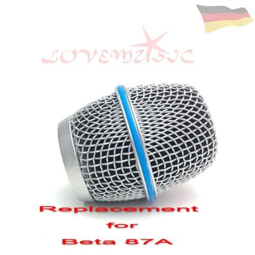 MICROPHONE GRILL HEAD Compatible SHURE BETA SM 87A  MIKROFON KOPF REPLACEMENT
