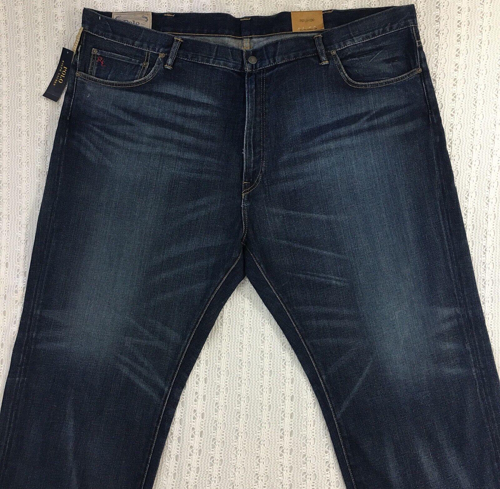 Men's POLO RALPH LAUREN Hampton Straight bluee Jeans 50B x 30 50 30 NWT  New