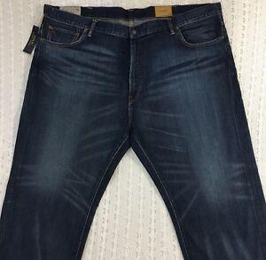 37be8ab09 Men s POLO RALPH LAUREN Hampton Straight Blue Jeans 50B x 30 50 30 ...