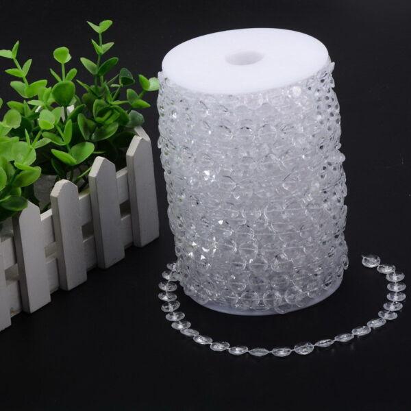 1 Rotolo ( 30 Metri ) Striscia Addobbo Cristallo Acrilico Decorazione Cerimonio