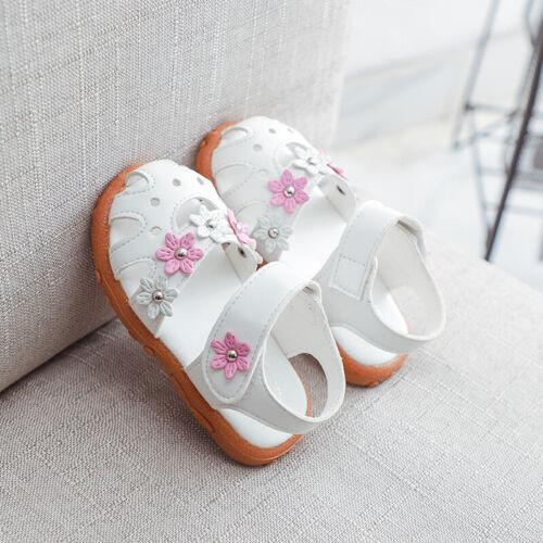 Baby Girls Summer Sandals Infant Kids Princess Sandals Toddler Size