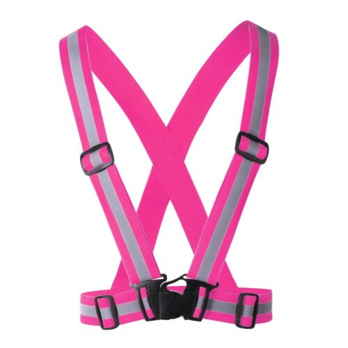 USA/_Reflective Safety Belt Vest Adjustable High Visibility for Night Run Bicycle