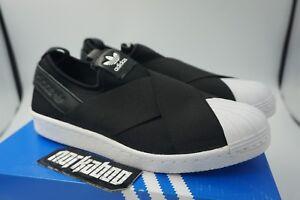 480fc4d5d19525 Image is loading Adidas-Originals-Superstar-Slip-On-Women-Shoes-Black-