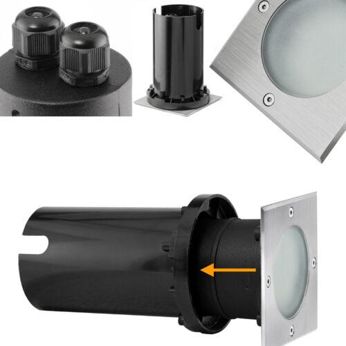 LED GU10 3,5W warmweiß 230V 3er Set Bodeneinbaustrahler MADON eckig IP65 inkl
