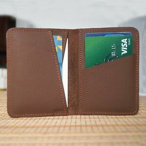 Real-Leather-Bifold-ID-Credit-Card-Wallet-Slim-Pocket-Case-Holder