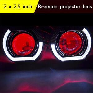 2-5-Inch-Projector-Len-Angel-amp-Demon-Eyes-For-H1-H4-H7-Retrofit-Car-Headlight