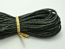 60 Meters Black Twisted Waxed Cotton Cord String Thread Line 2mm