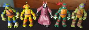 TMNT-Figures-Lot-of-5-Teenage-Mutant-Ninja-Turtles
