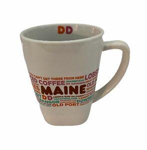 Dunkin Donut MAINE DD Destinations Coffee Tea Cup Mug 12 oz Limited Edition RARE