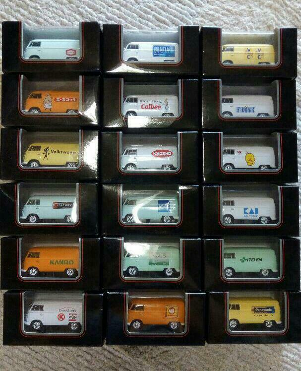 KYOSHO 2007 MOTOR COLLECTION FAIR NOVELTY WINNING 1 16 VW MINI CARS COMPLETE SET