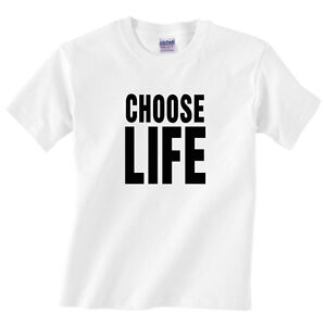 27bfe5642 Children's CHOOSE LIFE T Shirt - Kids Boys or girls classic 70's tee ...