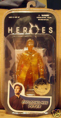 Heroes Exploding Man Peter Action Figure RARE Toys R Us EXCLUSIVE Mezco MOC!