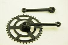 """VINTAGE STYLE COTTERED 40 TEETH CHAINWHEEL SET 150mm CRANK  FOR 1/8""""CHAIN BLACK"""