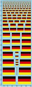 Inquiet Drapeaux Allemagne Flags Germany Drapeaux Alemagne 1:43 Décalque Décalcomanies-afficher Le Titre D'origine MatéRiaux De Haute Qualité