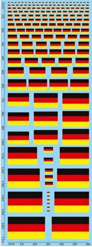 Flaggen Deutschland Flags Germany Drapeaux Alemagne 1:32 Decal Abziehbilder