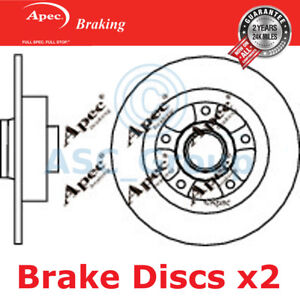 1x OE Quality Replacement Rear Axle Solid Brake Disc 4 Stud 260mm Pair